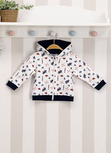 U.S. Polo Assn. Lisanslı Krem Bebek Sweatshirt Krem